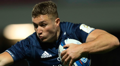 High aims: Jordan Larmour is eyeing another double