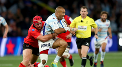 French test: Ulster's Eric O'Sullivan gets to grips with Racing's Simon Zebo earlier this season