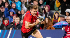 Blood, sweat and gears: Jacob Stockdale gets over for an Ulster try