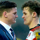 Sibling rivalry: Freddie Burns (left) will go up against brother Billy when Bath play host to Ulster in the Champions Cup tomorrow