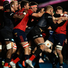 Flashpoint: Saracens and Munster players clash at Allianz Park