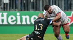 Charging on: Marty Moore is hoping to earn an Ireland call by excelling for Ulster