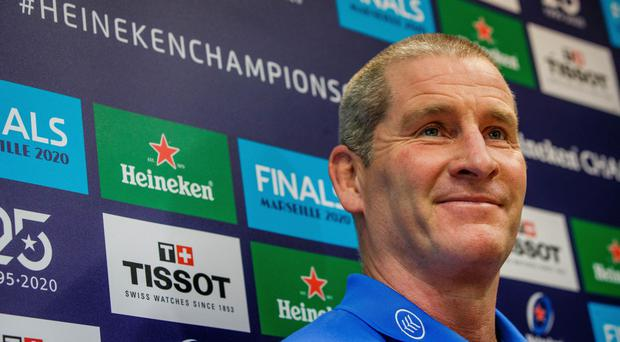 All smiles: Stuart Lancaster believes Leinster are finding the right balance within their large squad