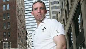 Enda McNulty in downtown Toronto, during the Ireland tour of Canada