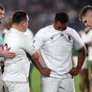 George Kruis, Jamie George, Mako Vunipola and Owen Farrell, l-r, are part of Saracens' England contingent (David Davies/PA)