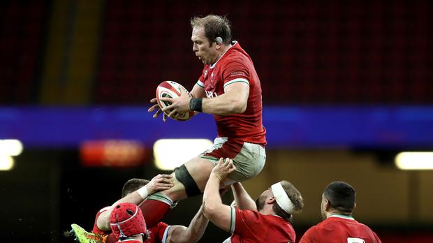 Alun Wyn Jones led his side to a convincing win against England (PA)