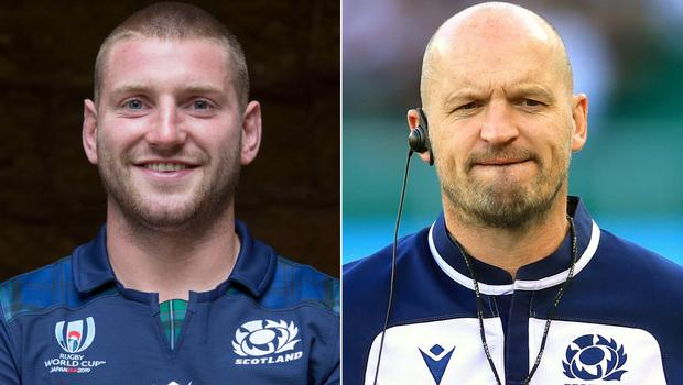 Finn Russell and Gregor Townsend (Ian Rutherford/Adam Davy/PA)