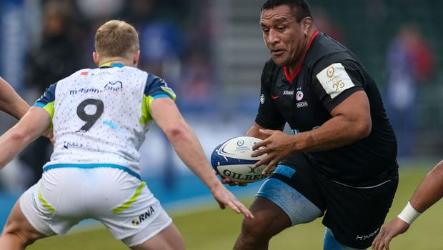 Prop Mako Vunipola, one of Saracens' returning England players, during the Heineken Champions Cup win over Ospreys (Paul Harding/PA)