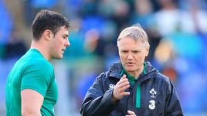 Joe Schmidt, pictured right, believes Ireland might have to throw caution to the wind against Scotland if Wales thrash Italy