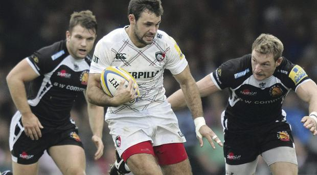 Full steam ahead: Niall Morris getting plenty of game time since his move to Leicester and will face Ulster at Ravenhill tomorrow night