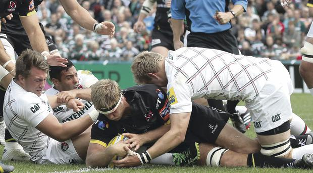 Try that: Chris Henry would love to add to his try tally when Ulster face Montpellier