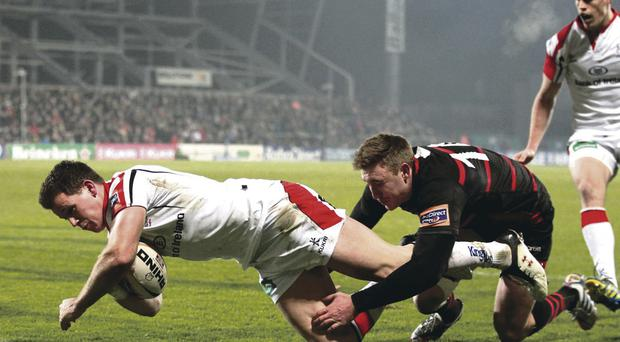Try that: Craig Gilroy has recently returned to action after an ankle injury forced the Ulster star to sit on the sideline