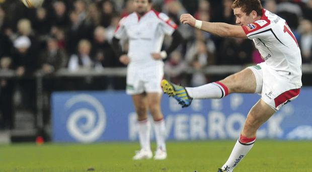 Paddy Jackson finished with a total of 18 points when Treviso lost 48-0 at Ravenhill last weekend