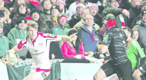 Ulster's Andrew Trimble looks for support