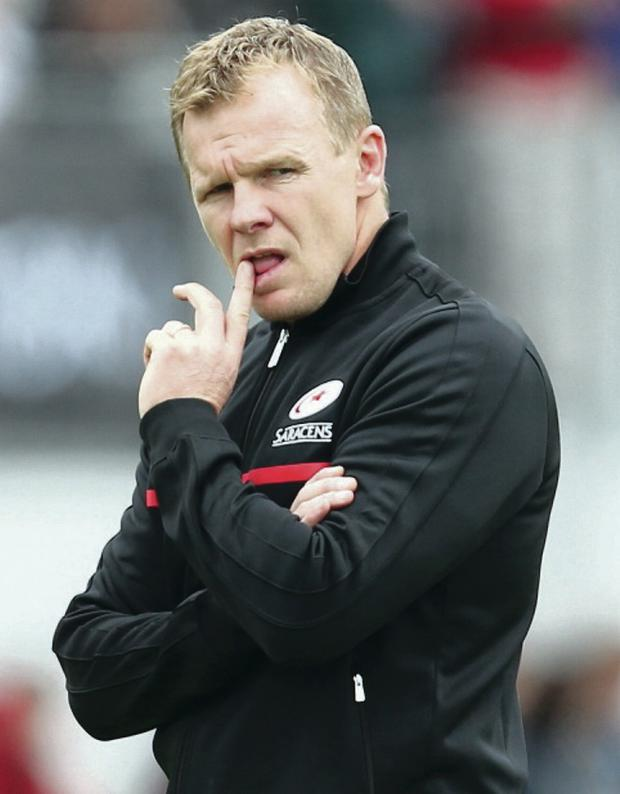 Saracens coach Mark McCall has warned his players to be ready for a tense atmosphere at Ravenhill