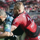 Munster's Simon Zebo scores the only try in their Heineken Cup semi-final against Toulon, but it wasn't enough to win the game