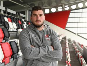 Standing tall: Sean Reidy admits he has become more professional with increasing experience