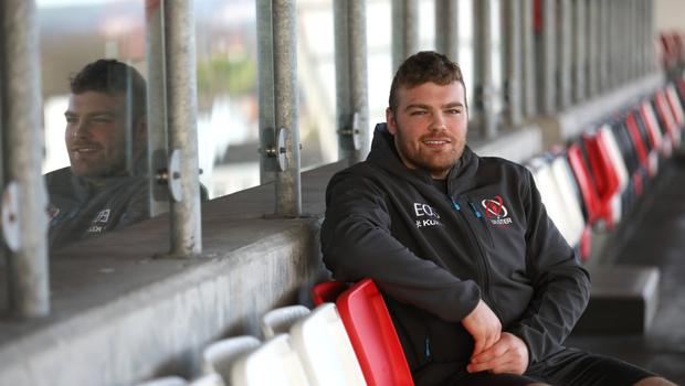 Hungry for action: Eric O'Sullivan at Kingspan Stadium ahead of the trip to Wales