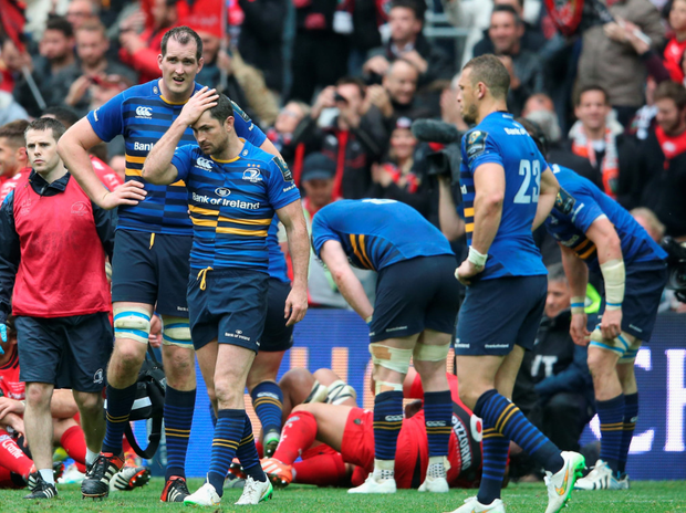 Agonisingly close: Leinster stars show their frustration after pushing Toulon all the way in the European Champions Cup
