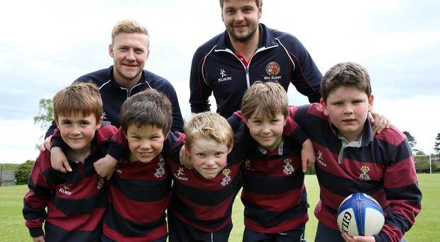 Fun time: Ulster Rugby and Ireland star Iain Henderson returns to his old school to help Ben Madigan Preparatory School launch its annual Family Fun Day on Saturday, May 30