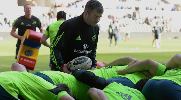 Defining week: Anthony Foley is hoping to secure a PRO12 final appearance in his first year at Munster