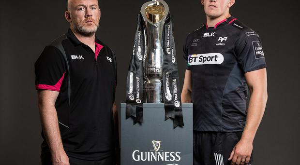 In it to win it: Ospreys head coach Steve Tandy and captain Lloyd Ashley are out to make up for last year's semi-final woe