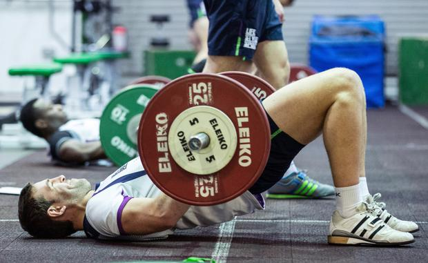 Making the weight: Connacht's Craig Ronaldson in training