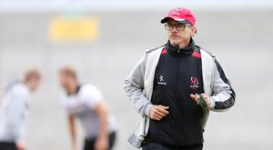 Showdown: Les Kiss takes Ulster training yesterday ahead of Saturday's crucial clash away to Ospreys
