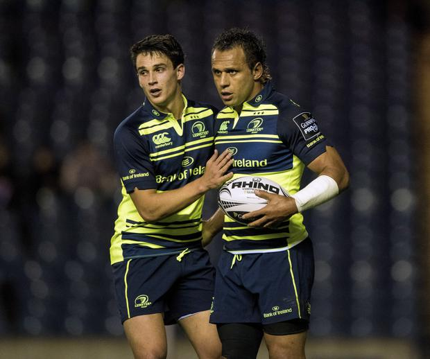 In control: Isa Nacewa (right) helped Leinster get over their recent defeat