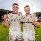 Marcus Rea celebrating with his brother Matthew