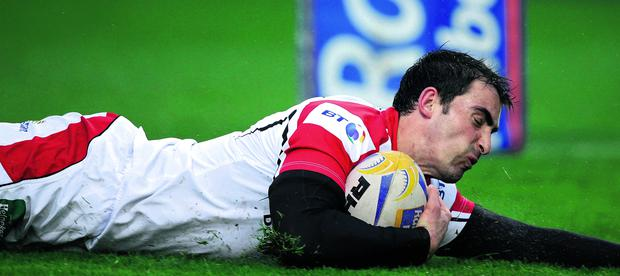 Ulster's Ruan Pienaar scores a try against Cardiff Blues