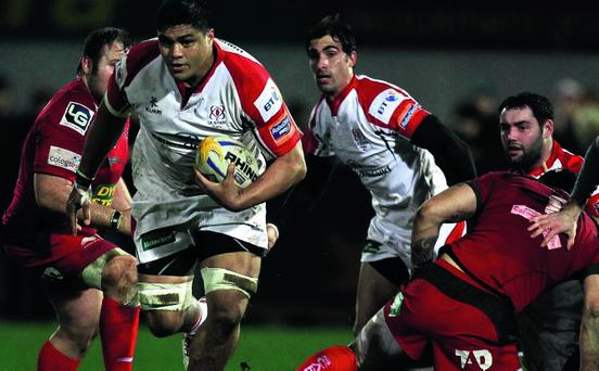 Nick Williams on the charge for Ulster
