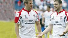 Disappointment for Ulster's Chris Henry and Darren Cave as Leinster win the RaboDirect PRO12 Final at the RDS