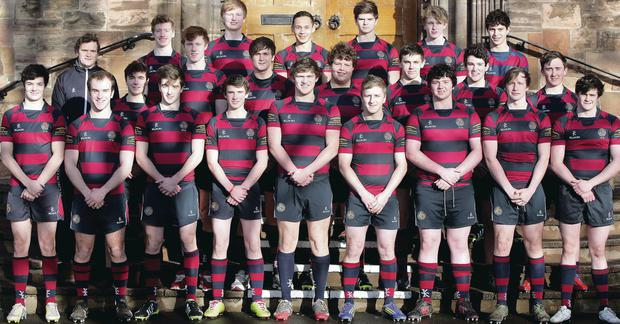 The Belfast Royal Academy squad which faces Rainey Endowed in the second round of the Danske Bank Schools Cup