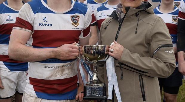Winners: Danske Bank's Vicki Hassan with winning captain Michael Finnerty