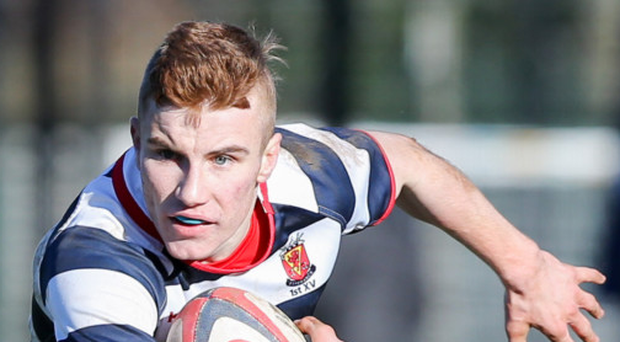 Forward plans: Wallace's Jonny Hunter goes on attack