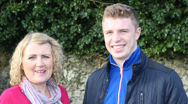 Mother's plea: Bernadette Beckett and son Owen, who is on the Friends' ski trip