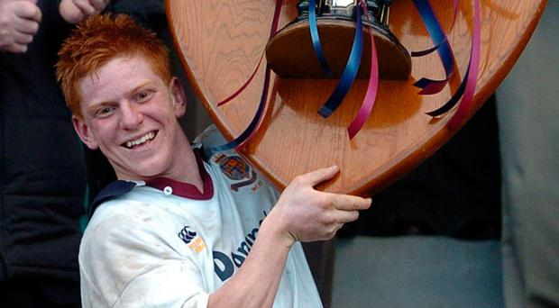 Tragic loss: John McCall lifts the Schools' Cup with Armagh in 2004, just 10 days before his sad loss on Ireland U19 duty