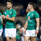 Key decision: Andy Farrell must choose between Conor Murray (left) and John Cooney (right) as Ireland get their Six Nations quest underway
