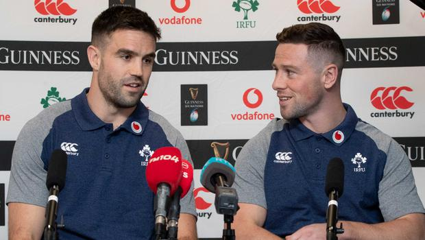 Getting on: Conor Murray and John Cooney have known each other from their early rugby days