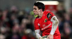 Horrible luck: Joey Carbery has suffered a wrist injury