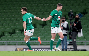 All change: Billy Burns (left) is in for Johnny Sexton and the Irish skipper's other half in rugby terms