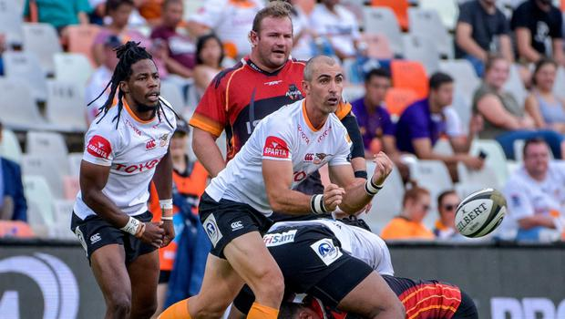 Front foot: Former Ulster star Ruan Pienaar in action for the Toyota Cheetahs against Southern Kings