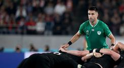 Major battle: Conor Murray has to prove he is still deserving of a starting spot for Ireland