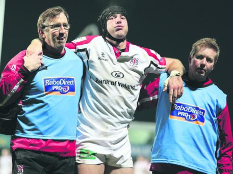 Stephen Ferris goes off injured but now he has his sights set on a return for Ulster