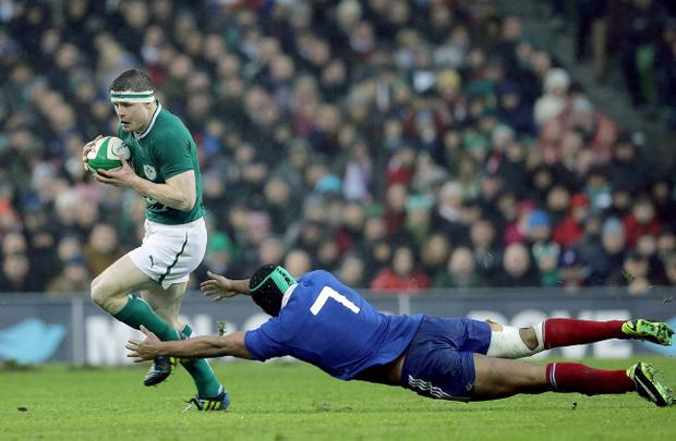 Brian O'Driscoll put in a typically strong performance against France on Saturday