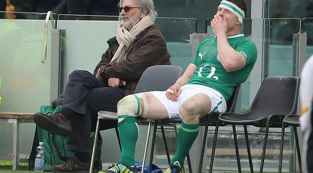 Ireland's Brian O'Driscoll is sin binned in their RBS 6 Nations match against Italy