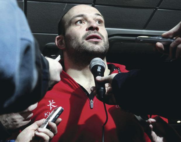 Ulster's Rory Best reveals yesterday that his return from a broken arm has so far posed no problems
