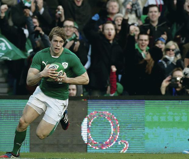 Class act: Ulster's Andrew Trimble is making his mark with Ireland