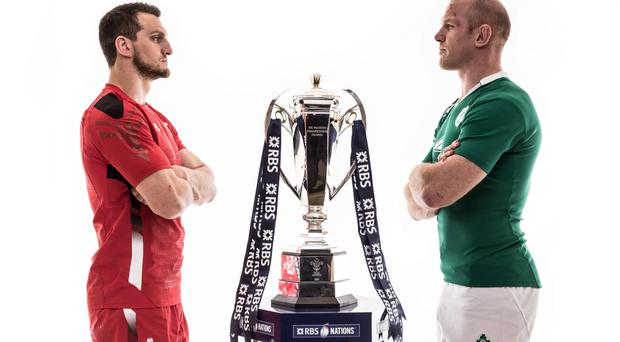 Cardiff crunch: Wales' Sam Warburton and Irish skipper Paul O'Connell have their eyes on the prize